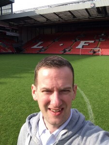 Aiden in Anfield in 2014
